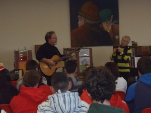 Performing at Mayfield Library, Cork City