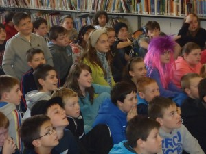 Students at Grand Parade Library, Cork City